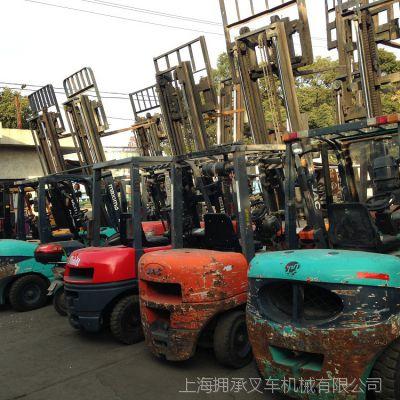 二手叉车【上海拥承销售有限公司】,柴油叉车,专叉托盘叉车