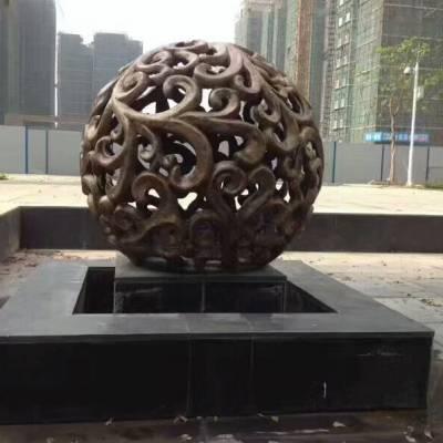 砂岩雕塑欧式茎叶纹灯罩别墅小区景观人造石圆形树脂透光灯笼武汉厂家直销