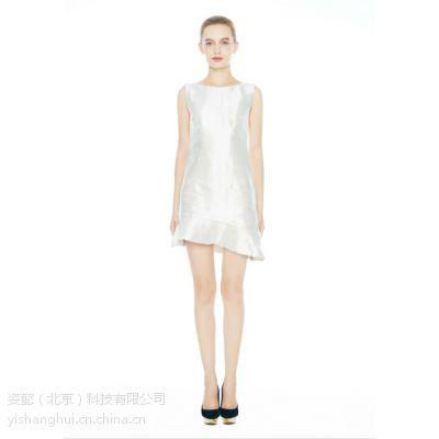 懿尚汇白色连衣裙纯色连衣裙租赁
