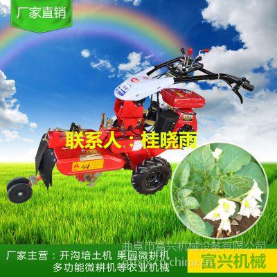 柴油开沟旋耕机 家用小型开沟机 富兴牌多功能田园管理机