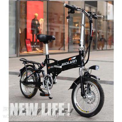 16寸36V锂电动车超轻迷你碟刹避震电单车折叠助力电瓶自行车成人