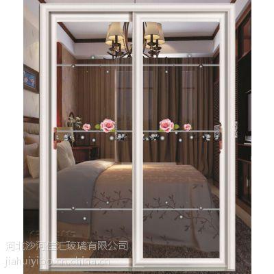 佳汇厂家主营165*220推拉门钛钢烫花隔断玻璃主要用于厨房、阳台