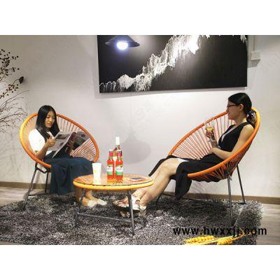 室内外太阳椅懒人椅月亮椅庭院阳台户外藤编桌椅馨宁居休闲家具