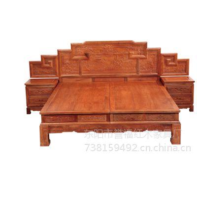 济南誉典福红木家具店 古典红木大床