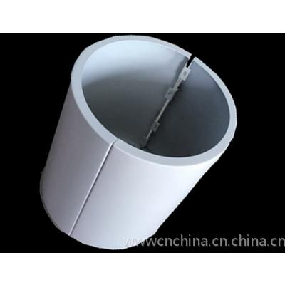 弧形包柱铝单板规格尺寸定制,德普龙造型镂空包柱铝幕墙