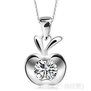全国批发女 韩国短款 纯银饰品 生日礼物 苹果猫眼石