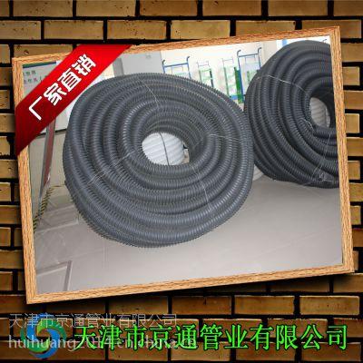 厂家供应pe碳素螺纹管 hdpe穿线螺纹管 50路灯电线护套pe管