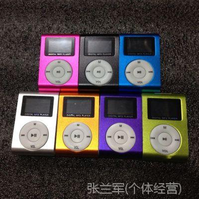厂家促直销有屏插卡夹子MP3播放器礼品数码播放器带屏迷你夹子MP3