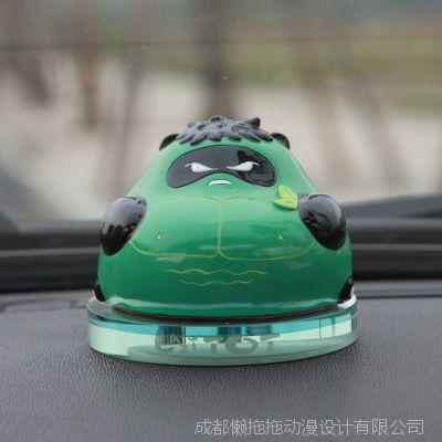 原创熊猫巨人卡通汽车香水座 汽车摆件创意车载内饰车载香水瓶