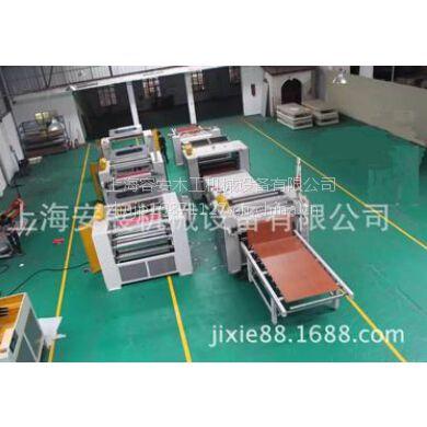 江苏贴面设备厂家、密度板PUR环保贴面线、亚克力热熔胶贴面生产线