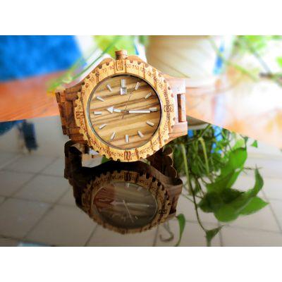 稳达时OEM代工 深圳手表厂家直销 时尚桃木 石英手表