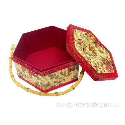安吉竹制月饼礼盒 竹篮  创意茶叶月饼水果年货土特产包装