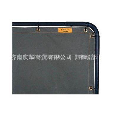 供应威特仕防火阻燃帆草绿色帆布焊接防护屏55-9466