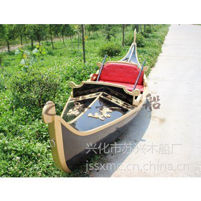 5米欧式贡多拉手划船 户外装饰木船 休闲贡多拉观光船 款式可定制