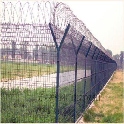厂家促销万来机场护栏网 刀片机场围栏网 质保十年 包安装 Q235