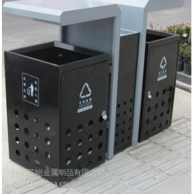 广州匠能供应不锈钢室外环保垃圾桶分类垃圾箱