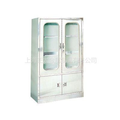 供应厂家直销!ZY62正太带玻璃门的不锈钢器械柜 不锈钢敷料柜
