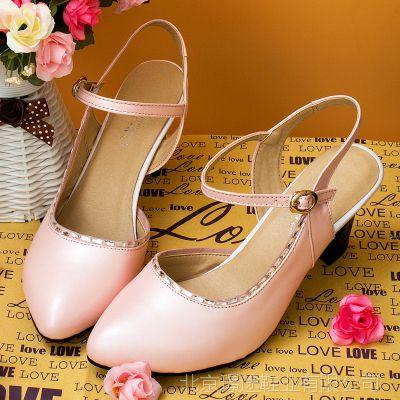 厂家品牌直销66-15夏季新款浅口大码凉鞋40 43高跟大号女鞋41 43