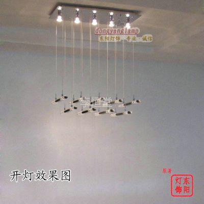 供应高档长方形水晶餐厅灯/基因图谱灯具/简约水晶灯/现代水晶灯9068