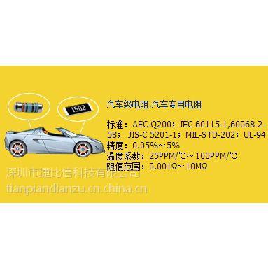 台湾光颉供应车规级高精密电阻 汽车电子用贴片电阻
