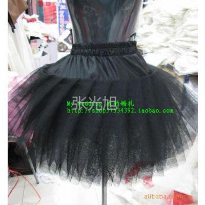 供应芭蕾舞无骨短裙撑晚礼服黑色短款婚纱裙撑lolita百褶撑裙w13