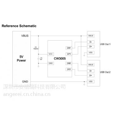 代理赛微CW3005/CW3005FAAS完全替代CW3004双通道识别快充IC