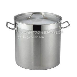 广东广州方联供应不锈钢复底汤锅 不锈钢内贸环保无烟锅