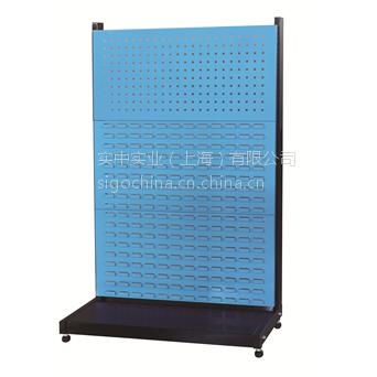 厂家供应信高固定型单面三层物料整理架KR13系列960x375x1450 方孔挂板百叶挂板