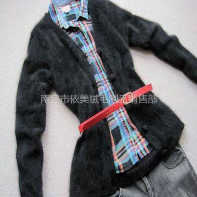 供应女式貂绒开衫 气质款貂绒衫 短款貂绒上衣针织衫毛衣 灰羊毛衫