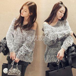 供应新款2012秋冬新款韩版加厚宽松打底衫针织衫时尚毛衣外套