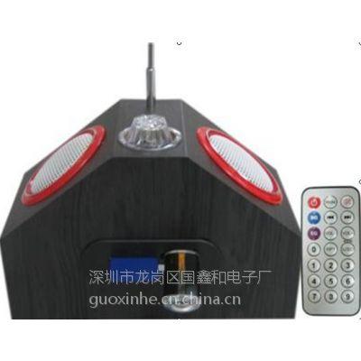 深圳畅销木质锂电池迷你音箱 MP3