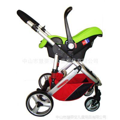 生产厂家供应欧洲款可换向儿童推车三轮铝管车婴儿车轻便款手推车