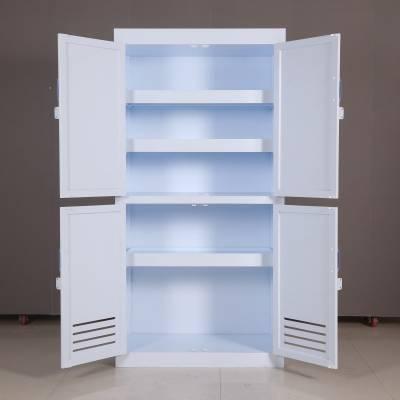 欧胜诺专业生产 多种规格重庆酸碱柜 PP酸碱柜 三层四门药品柜 器皿柜