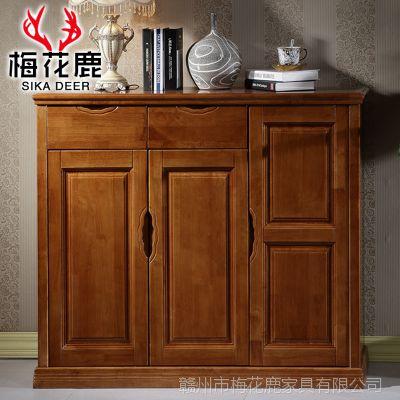 多功能玄关实木鞋柜大容量木质鞋柜收纳储物柜现代客厅家具