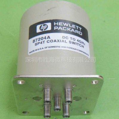供应87204A HP DC-4GHz 单刀4掷 高频同轴开关 微波同轴开关 高功率射频同轴开关