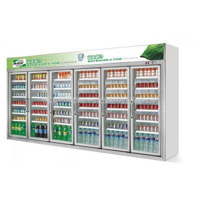 供应供应雅绅宝豪华款六门饮料展示柜/分体展示柜/风冷展示柜