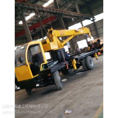 山东大禹建工4吨自备吊(拉电线杆专用车)