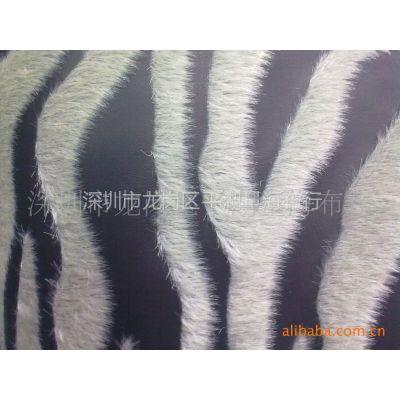 供应皮革植绒 斑马纹植绒 装饰皮革 软包布 时尚皮革软包