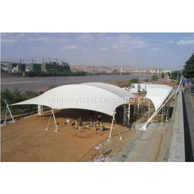 太原膜结构停车棚、膜结构遮阳蓬 张拉膜雨棚设计骏阳 全国测量