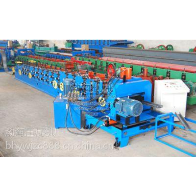 渤海80-300C型钢成型机经济实用是一套轧辊可生产多种规格C型檩条成品的单卷成型机组,本机采用自动