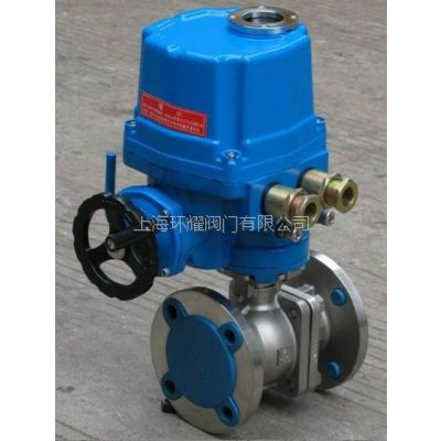 供应上海环耀Q941F-16C不锈钢电动球阀