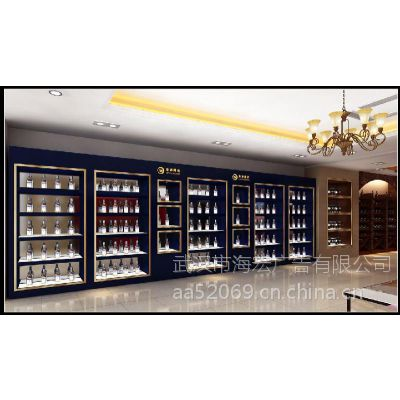 武汉海宏展柜厂家订做木制烤漆黄鹤楼烟酒柜台,组装柜台以及设计一条龙服务