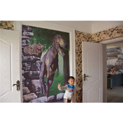 彩装膜装修示例图 高档宾馆装修彩装膜 壁纸自粘
