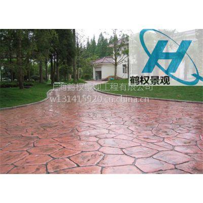 桂林混凝土压花地坪路面艺术装饰
