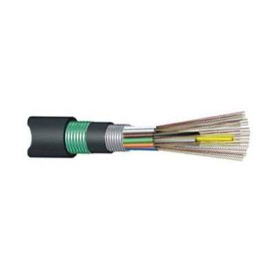 供应厂家直销2芯单模層絞式非金屬加強芯鎧裝光纜GYFTA53