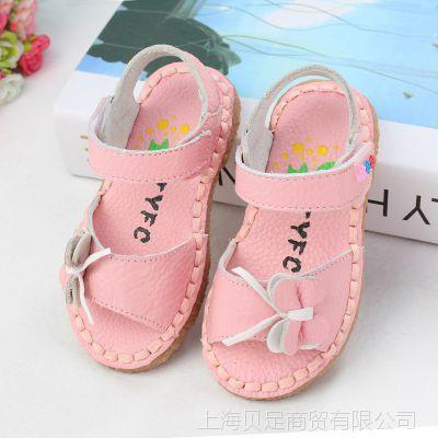 女童凉鞋真皮2015夏新款牛筋软底公主鞋韩版宝宝鞋温州品牌童鞋