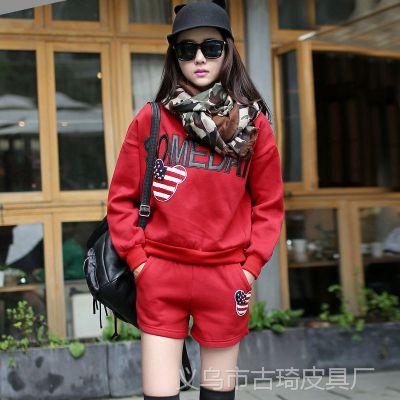 2014秋冬季新款时尚女装韩式修身套装上衣裤子运动装 两件套