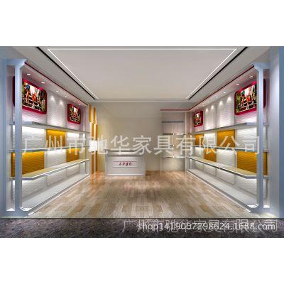 2015新款女鞋子展柜 高档波浪背板鞋展示柜 男女鞋类展柜