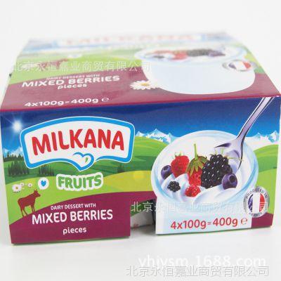 法国进口百吉福Milkana儿童含乳饮品酸奶100克*24杯