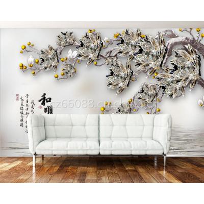 朱居家 3D现代简约仿玉雕电视墙 亮光仿大理石纹路瓷砖背景墙 批发